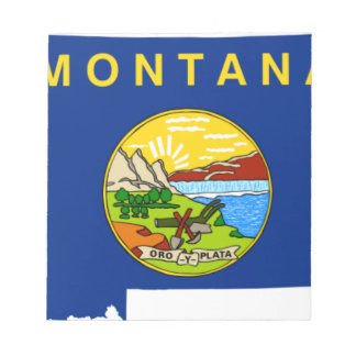 Flag Map Of Montana Notepad