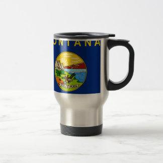 Flag Map Of Montana Travel Mug