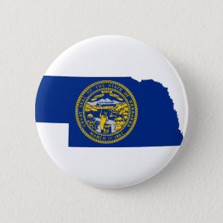 Flag Map Of Nebraska 2 Inch Round Button
