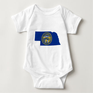 Flag Map Of Nebraska Baby Bodysuit
