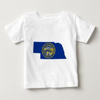 Flag Map Of Nebraska Baby T-Shirt