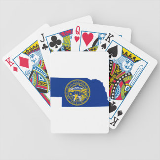 Flag Map Of Nebraska Bicycle Playing Cards