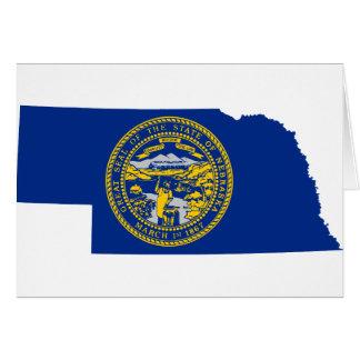 Flag Map Of Nebraska Card