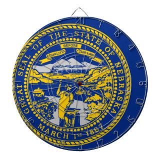 Flag Map Of Nebraska Dartboard