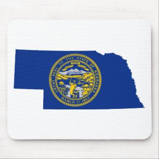 Flag Map Of Nebraska Mouse Pad