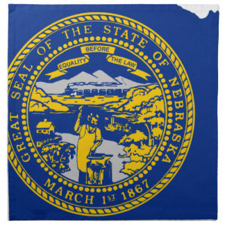 Flag Map Of Nebraska Napkin