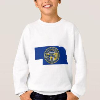 Flag Map Of Nebraska Sweatshirt