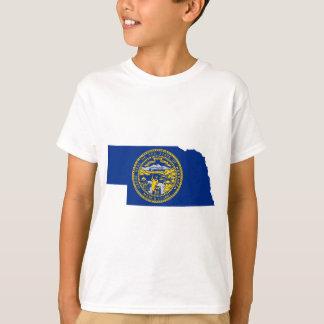 Flag Map Of Nebraska T-Shirt