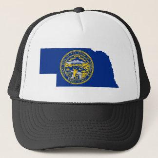 Flag Map Of Nebraska Trucker Hat