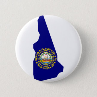 Flag Map Of New Hampshire 2 Inch Round Button