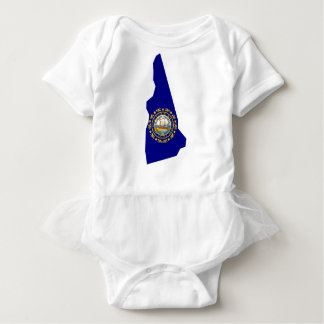 Flag Map Of New Hampshire Baby Bodysuit