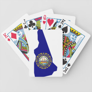 Flag Map Of New Hampshire Bicycle Playing Cards
