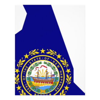 Flag Map Of New Hampshire Letterhead