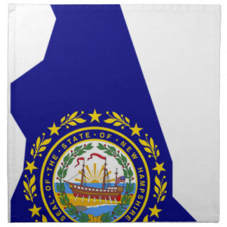 Flag Map Of New Hampshire Napkin