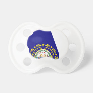 Flag Map Of New Hampshire Pacifier