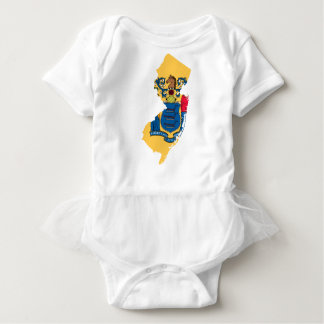 Flag Map Of New Jersey Baby Bodysuit