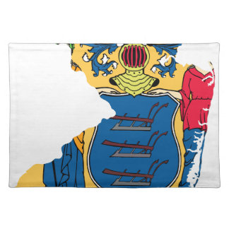 Flag Map Of New Jersey Placemat