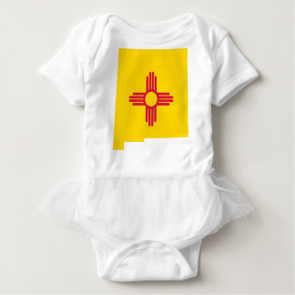 Flag Map Of New Mexico Baby Bodysuit
