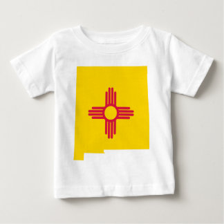 Flag Map Of New Mexico Baby T-Shirt