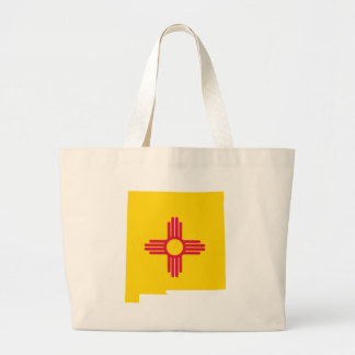 Flag Map Of New Mexico Large Tote Bag