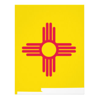 Flag Map Of New Mexico Letterhead