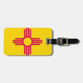 Flag Map Of New Mexico Luggage Tag