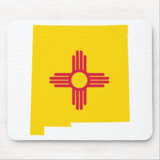 Flag Map Of New Mexico Mouse Pad