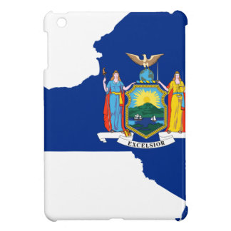 Flag Map Of New York Cover For The iPad Mini