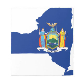 Flag Map Of New York Notepad