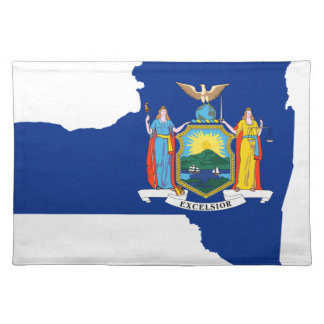 Flag Map Of New York Placemat