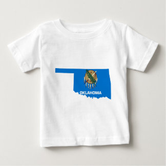 Flag Map Of Oklahoma Baby T-Shirt