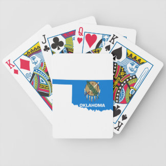 Flag Map Of Oklahoma Bicycle Playing Cards