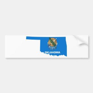 Flag Map Of Oklahoma Bumper Sticker
