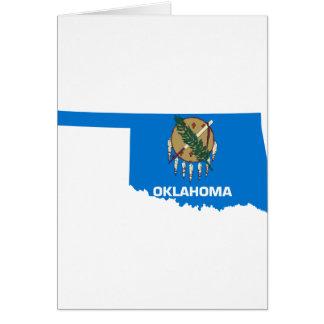 Flag Map Of Oklahoma Card