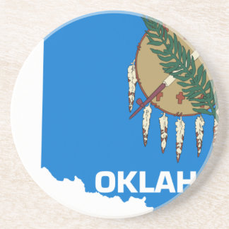 Flag Map Of Oklahoma Coaster