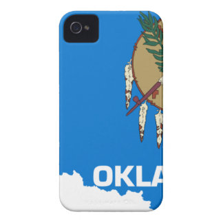 Flag Map Of Oklahoma iPhone 4 Covers