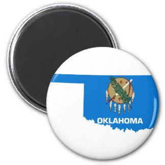Flag Map Of Oklahoma Magnet
