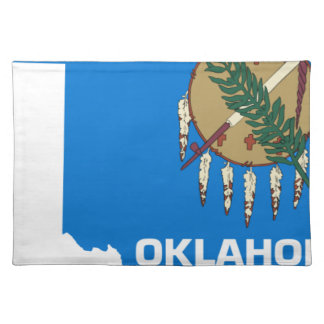 Flag Map Of Oklahoma Placemat