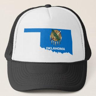 Flag Map Of Oklahoma Trucker Hat