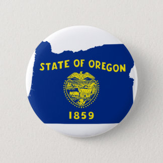 Flag Map Of Oregon 2 Inch Round Button