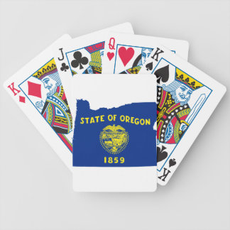 Flag Map Of Oregon Bicycle Playing Cards