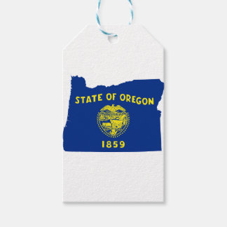 Flag Map Of Oregon Gift Tags