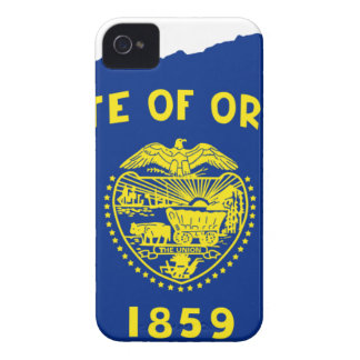 Flag Map Of Oregon iPhone 4 Covers