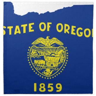 Flag Map Of Oregon Napkin
