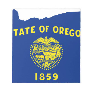 Flag Map Of Oregon Notepad