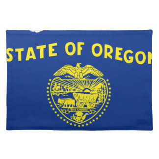 Flag Map Of Oregon Placemat