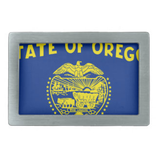 Flag Map Of Oregon Rectangular Belt Buckle