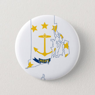 Flag Map Of Rhode Island 2 Inch Round Button