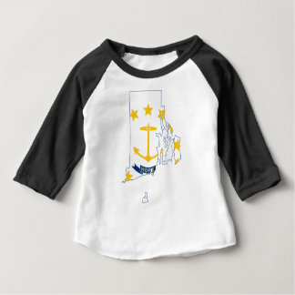 Flag Map Of Rhode Island Baby T-Shirt