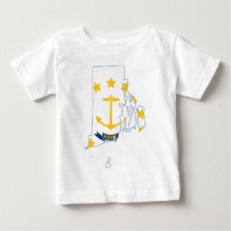 Flag Map Of Rhode Island Baby T-Shirt
